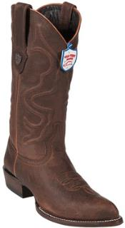 Walnut J-Toe Leather Cowboy