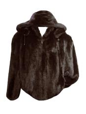 Genuine Rabbit Fur Brown Fully Lined Jacket With