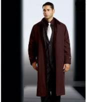 Dress Coat Polyester/Nylon Long Rain Coat-Trench Coat Brown(Snap Off Liner) Long
