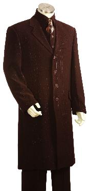 Fashionable Long Zoot Suit Brown
