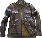 Brown Military Genuine Leather