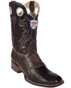 West Brown Ostrich Leg Wild Rodeo Toe Boots