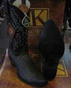 King Exotic Brown Western Cowboy Boot Snip Toe Genuine Ostrich Leg Skin EE+