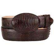Brown Ostrich Leg Skin Western Style Belt