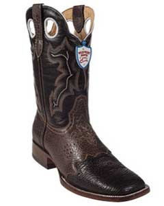 West Brown Shark Wild Rodeo Toe Boots