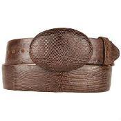 Brown Original Lizard Teju Skin Western Style Hand Crafted Belt