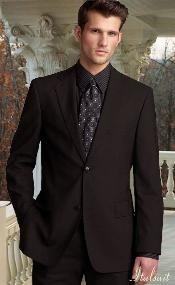 Brown 2 Button Wool 2pc Suit Super 150s with Hand Pick