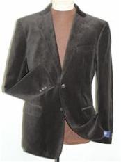 Brown Velvet Blazer Jacket