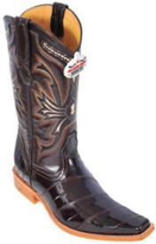 Classy Vintage Brown Los Altos Mens Cowboy Boots Western Classics Style