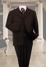 3pc Pinstripe Suit With