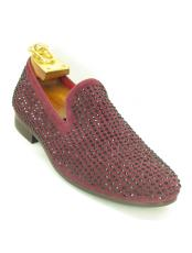 Mens Carrucci Maroon Dress Shoe ~ Burgundy Dress Shoe ~ Wine Color