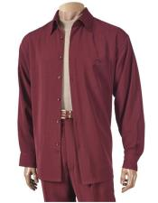 6 Button Burgundy ~ Wine ~ Maroon Color Long Sleeve Hightwist