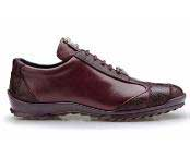 Paulo Authentic Belvedere Exotic Skin Brand Genuine Dark Burgundy ~ Wine ~ Maroon Color Ostrich and Soft