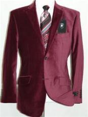 Velvet Burgundy ~ Maroon ~ Wine Color Sport Coat Blazer