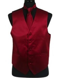 Tie Set Burgundy ~ Maroon ~ Wine Color