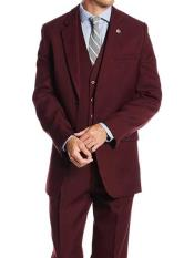 Mens Stacy Adams Brand Burgundy ~ Wine ~ Maroon Suit  Classic