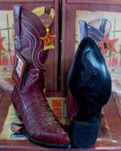 Altos Burgundy ~ Maroon ~ Wine Color Genuine Crocodile ~ World Best Alligator ~ Gator Skin Tail