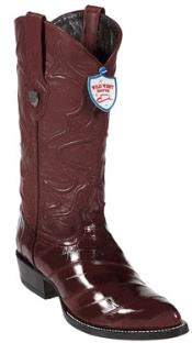 West Burgundy ~ Maroon ~ Wine Color Eel Cowboy Boots