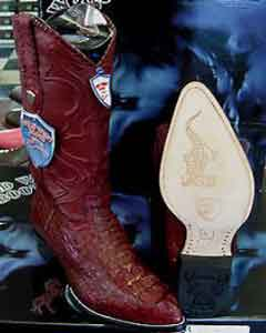 West Burgundy ~ Maroon ~ Wine Color Genuine Crocodile ~ World