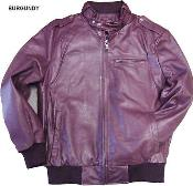 Mens Leather Bomber Jacket Soft Lambskin Burgundy ~ Maroon ~ Wine Color tanners avenue jacket