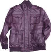 Mens Burgundy ~ Maroon ~ Wine Color Safari/Military Inspired Bomber With Bellowed Pockets Knit Collar/Cuffs tanners avenue