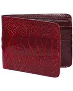 West Boots Wallet- Burgundy ~ Maroon ~ Wine Color Genuine Exotic