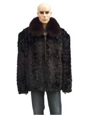 Fur Burgundy ~ Wine ~ Maroon Color Pull Up Zipper Fox