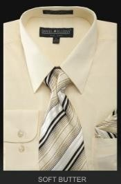 Dress Shirt - PREMIUM TIE - Soft Butter