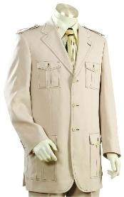 Button Cane Beige Mens