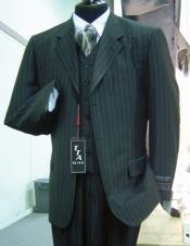 Pinstripe In Charcoal Grey