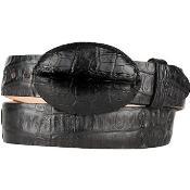 Caiman Hornback Skin Black
