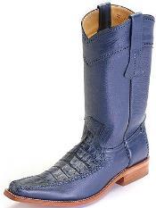 caiman ~ World Best Alligator ~ Gator Skin Belly Leather Blue