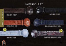 "Cowboy Exotic Belt 15"" caiman ~ World Best Alligator ~ Gator Skin Belly by Los Altos"