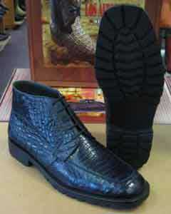 Crocodile Caiman Navy Blue