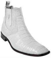Gator Skin Belly White Dress Boot Ankle Dress Style For Man ~ Mens Genuine caiman ~ World