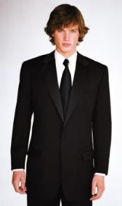 Calvin Klein Slim Fit Tuxedo Super 130s Luxury Wool Black