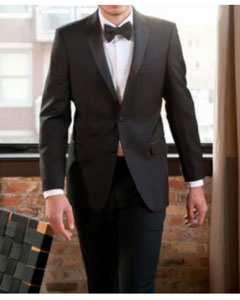 Klein Tuxedo Super 130s Luxury Wool Slim Fit Black