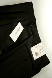 Calvin Klein Black Tuxedo Pants unhemmed unfinished bottom