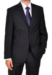 Klein Dark Navy Blue Suit For Men Tonal Stripe ~ Pinstripe