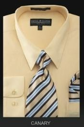 Dress Shirt - PREMIUM TIE - Canary