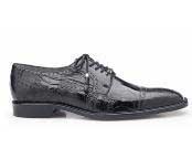 Batta Authentic Belvedere Exotic Skin Brand Mens Black Genuine Ostrich Leather Lining Cap Toe Shoe