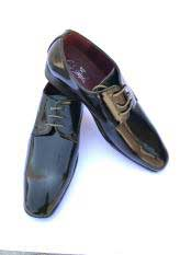 Mens Shiny Dark Olive Green ~ Hunter Cap Toe Lace Up