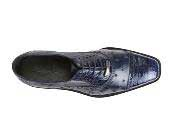 Mens Navy Ostrich Crocodile