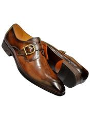 Burnished Calfskin Leather Monk