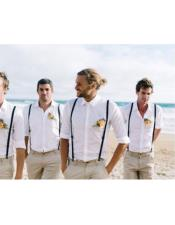 casual groomsmen attire Any Color Shirt  + Pants + Suspender