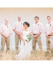 casual groomsmen attire Any Color Shirt  + Pants + Belt