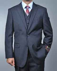 Grey 2-button Vested Suit