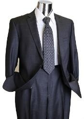 Window Pane Style Mens Designer Suit Charcoal