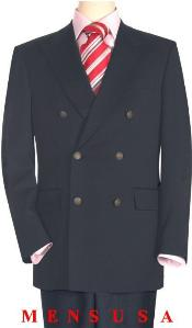 Quality Charcoal Gray Double Breasted Blazer with Peak Lapels