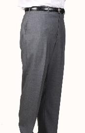 Charcoal Somerset Pleated Trouser unhemmed unfinished bottom